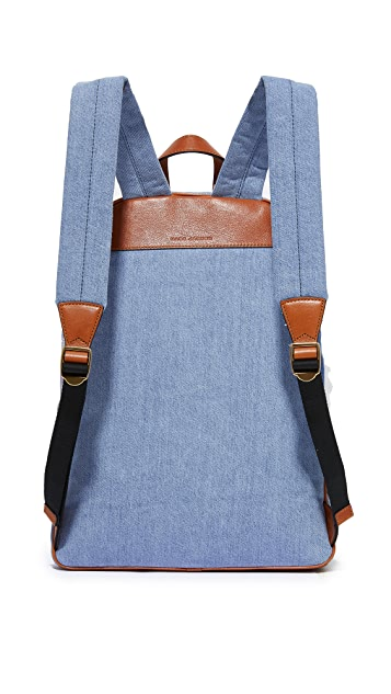 Marc Jacobs Denim Patchwork Biker Backpack