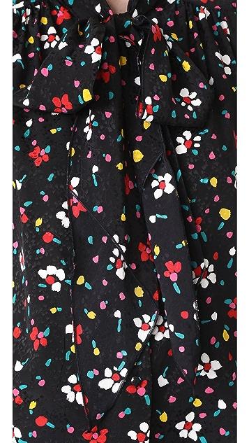 Marc Jacobs Button Flutter Sleeve Top