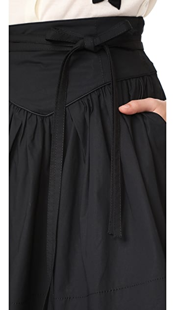 Marc Jacobs Yoke Skirt with Waist Tie