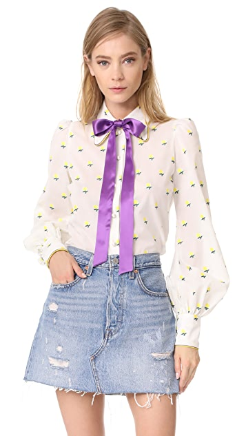 Marc Jacobs Tie Neck Blouse