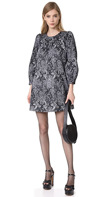 Marc Jacobs Long Sleeve Babydoll Dress