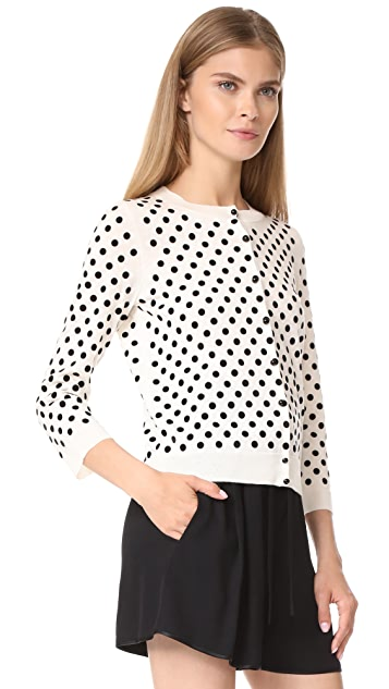 Marc Jacobs Polka Dot Cardigan