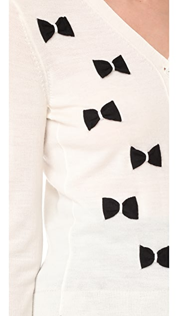Marc Jacobs Long Sleeve Bow Cardigan