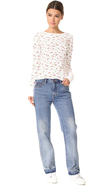 Marc Jacobs Mini Rose Crew Neck Tee