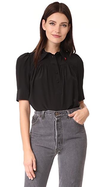 Marc Jacobs Blouse with Collar and Pin