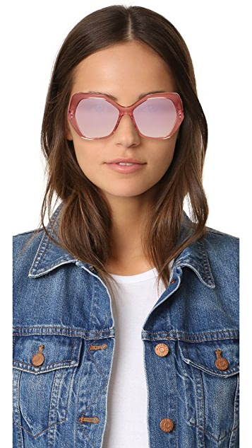 Marc Jacobs Geometric Mirrored Sunglasses