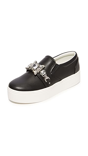 Black Embellished Platform Sneakers Marc Jacobs OA3Yg6P