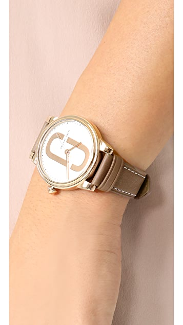 Marc Jacobs Corie Leather Watch