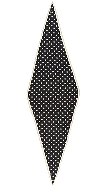 Marc Jacobs Polka Dot Diamond Stole Scarf