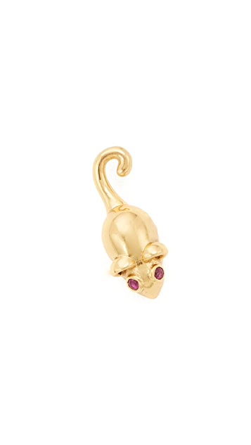 Marc Jacobs Mouse Stud Earring