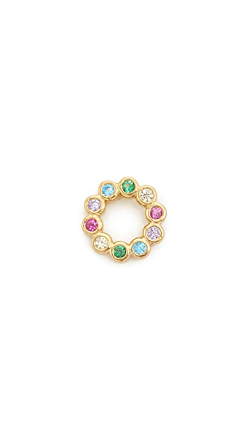 Marc Jacobs Rainbow Ring Stud Earring