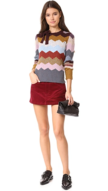 Marc Jacobs Combo Miniskirt