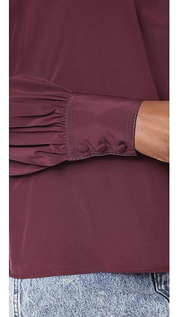 Marc Jacobs Bishop Sleeve Blouse