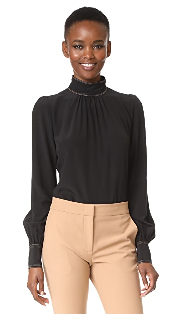 Marc Jacobs Bishop Sleeve Blouse