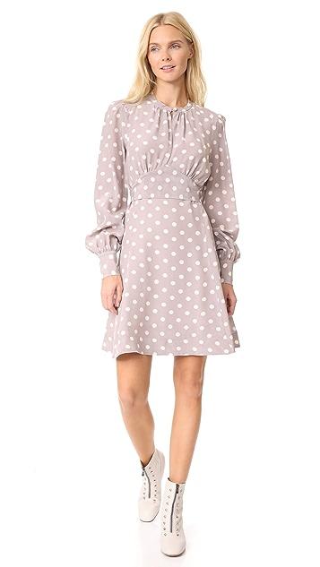 Marc Jacobs Bishop Sleeve Waist Tie Dress