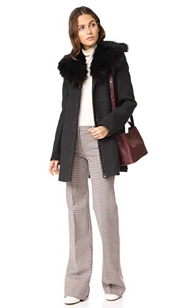 Marc Jacobs Faux Fur Collar Coat