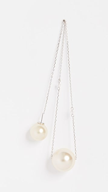 Marc Jacobs Single Pearl Chain Drop Earring