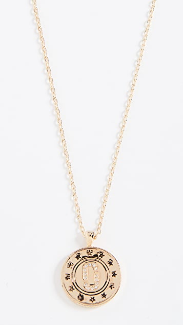 Marc Jacobs Double Sided Pendant Necklace