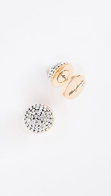 Marc Jacobs Pave Circle Studs