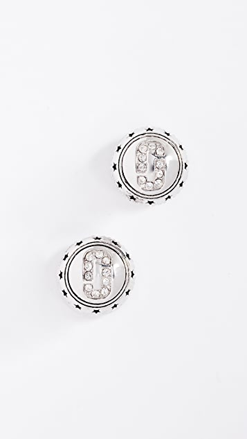 Marc Jacobs Medallion Studs