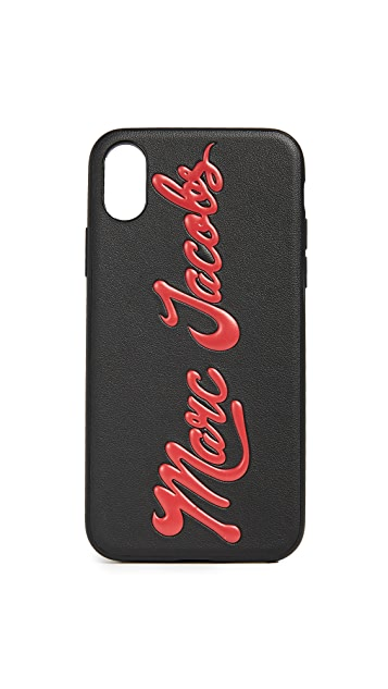 Marc Jacobs Glossy Marc Embossed iPhone X Case