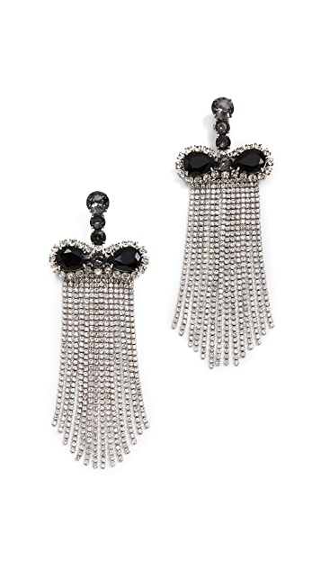 Marc Jacobs Crystal Waterfall Earrings