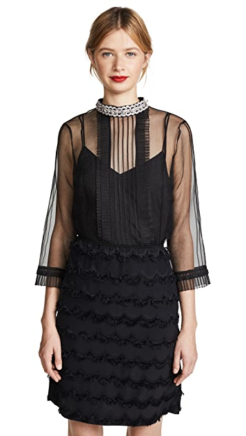 Marc Jacobs Pintuck Top with Pleating