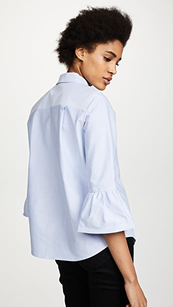Marc Jacobs Button Down with Ruffle Sleeve