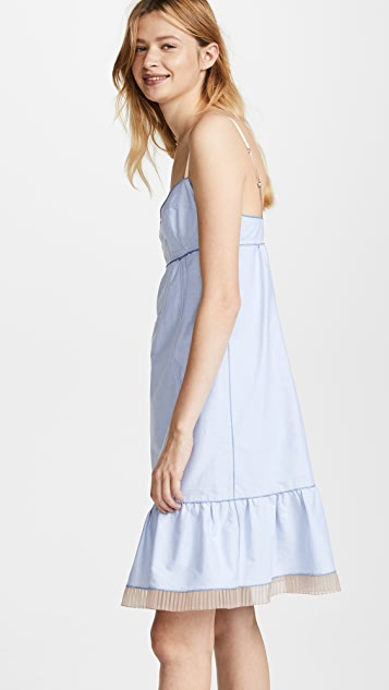 Marc Jacobs Strappy Dress with Hem Ruffle