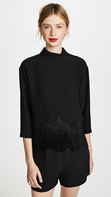 Marc Jacobs Button Down Fringe Top