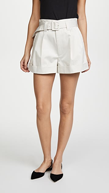 Marc Jacobs Pleated High Waist Shorts