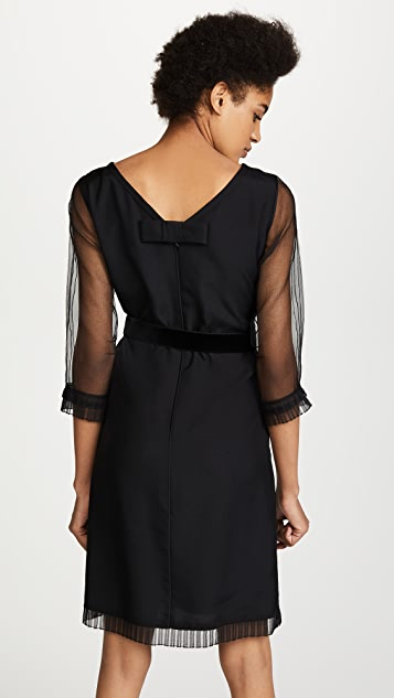 Marc Jacobs Long Sleeve Dress with Ruffles & Belt