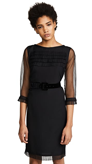 Marc Jacobs Long Sleeve Dress with Ruffles & Belt