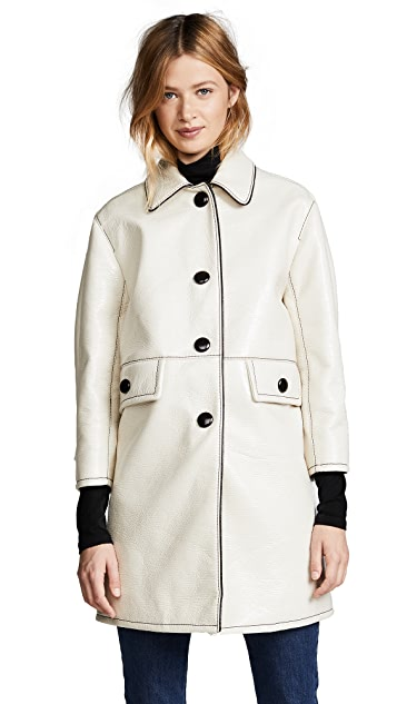 Marc Jacobs Balmacaan Coat with Piping