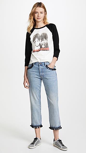 Marc Jacobs Denim Jean with Pom Poms