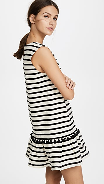 Marc Jacobs Striped Pom Pom Dress