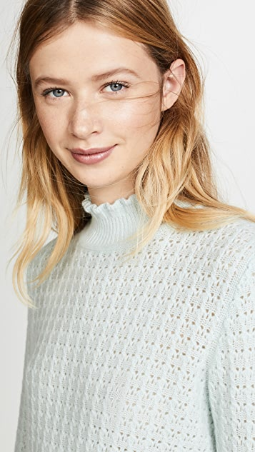 Marc Jacobs Long Sleeve Mock Neck Cashmere Sweater