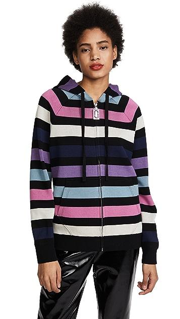 Marc Jacobs Long Sleeve Zip Hoodie