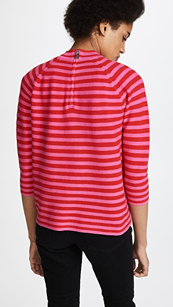 Marc Jacobs Elbow Sleeve Mock Neck Top