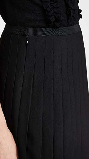 Marc Jacobs Pleated Wool Skirt