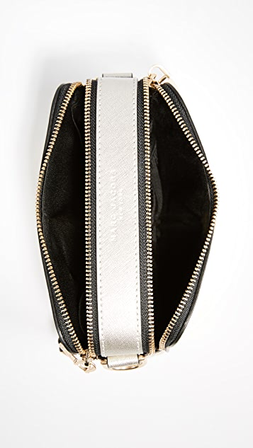 Marc Jacobs Metallic Snapshot Cross Body Bag