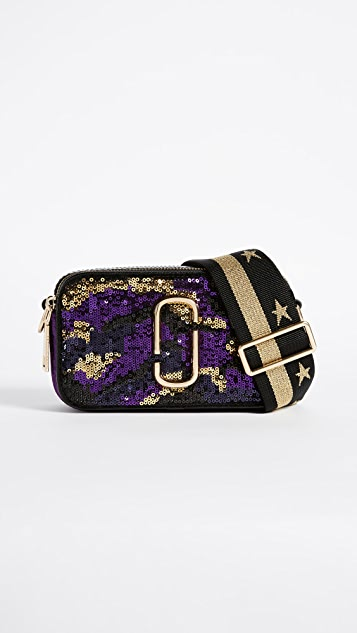 Marc Jacobs Camo Sequin Snapshot Cross Body Bag