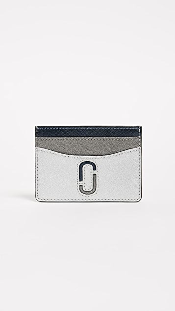 Marc Jacobs Double J Card Case - Silver Multi