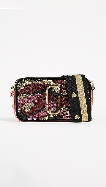 The Marc Jacobs Camo Sequin Snapshot Cross Body Bag