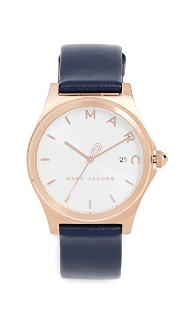 Marc Jacobs Henry Leather Strap Watch, 38mm