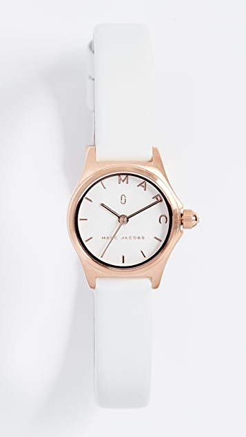Marc Jacobs The Henry Watch, 20mm - White/Rose Gold