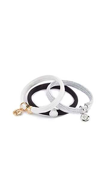 Marc Jacobs Double J Cutout Ponytail Holder