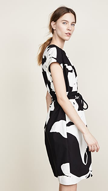 The Marc Jacobs Short Sleeve Dress with Belted Waist