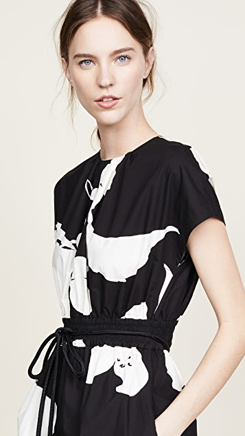 Marc Jacobs Short Sleeve Dress with Belted Waist