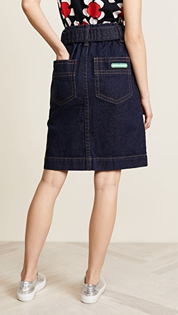 Marc Jacobs Denim Skirt with Zip Pockets